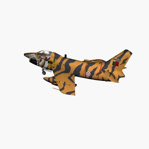 3d fiat jet fighter tiger model