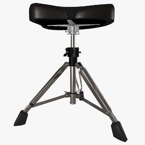 3d double drum throne seat