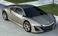 3d model acura nsx 2013 car