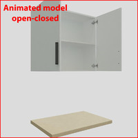 kitchen furnitures 90 cm 3d model