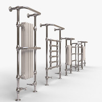 3d traditional heated towel rails