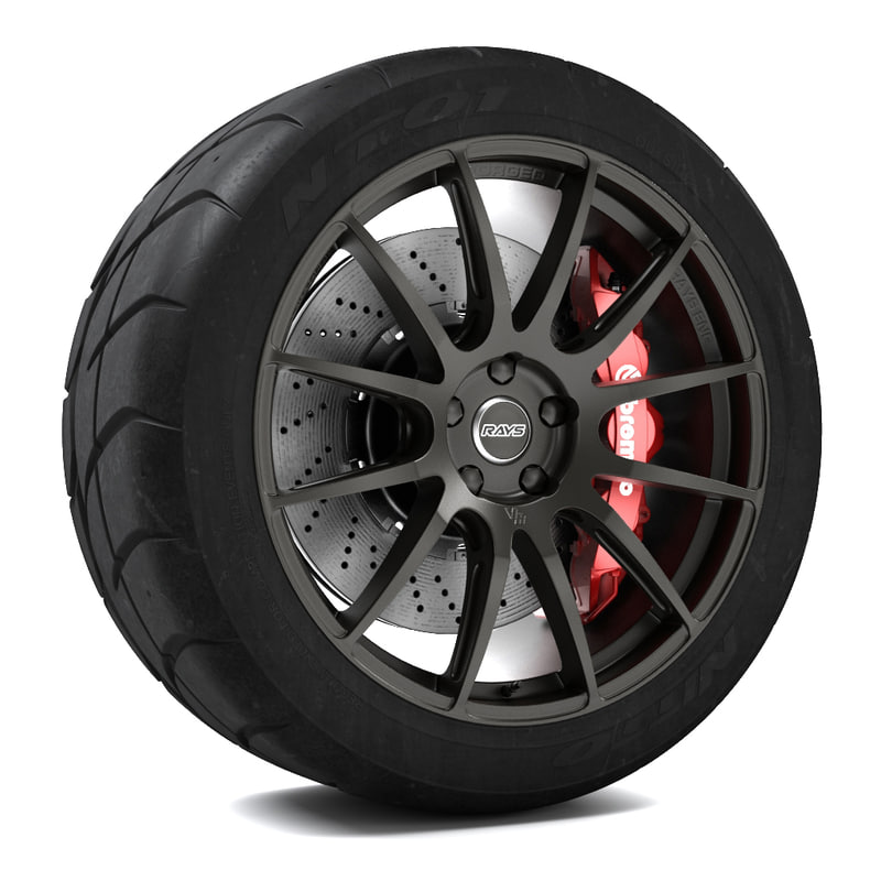 3d volk racing g12 wheel model