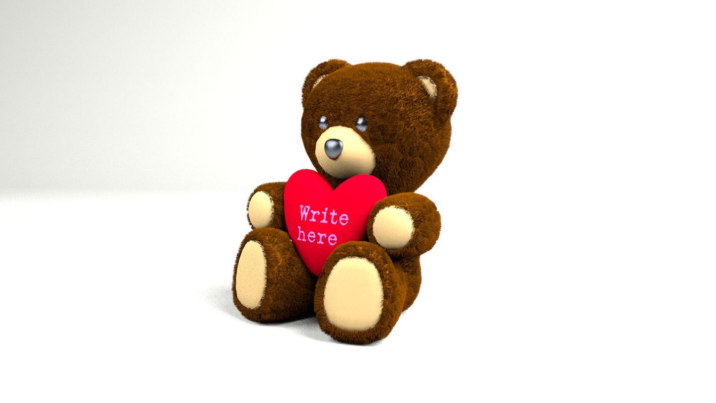bear teddy 3d model
