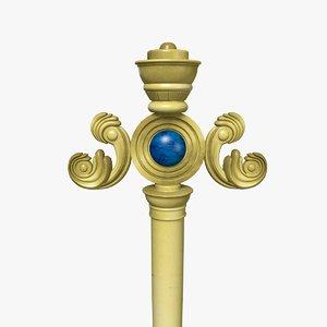3d gold staff