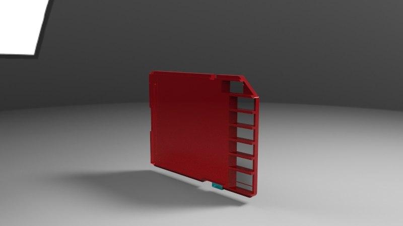 3d model of computer rhino