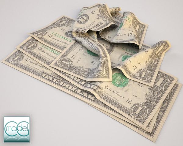 dollars 3d c4d