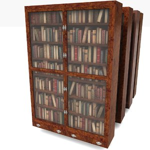 3d model book case