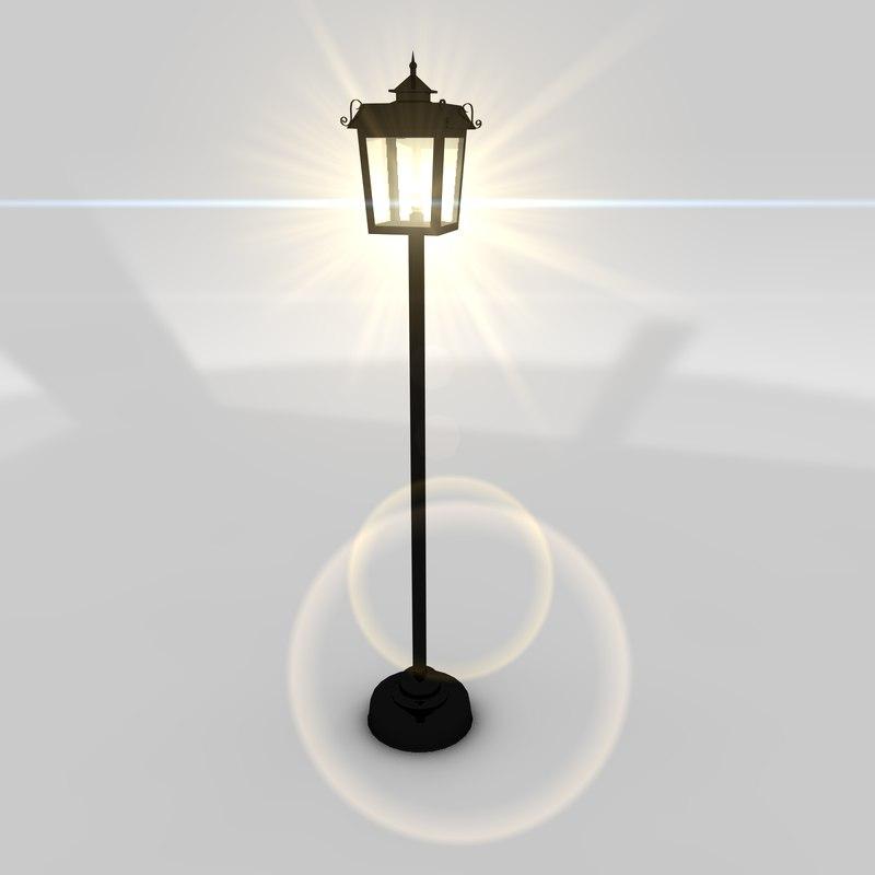3d model lamp lamppost