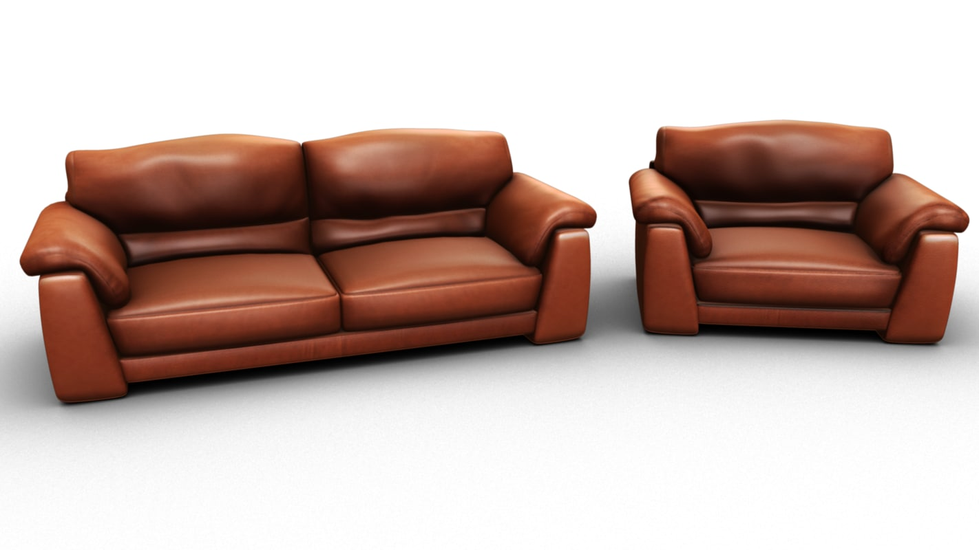 leather sofa obj