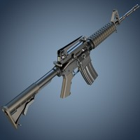 m4a1 assault rifle 3d obj