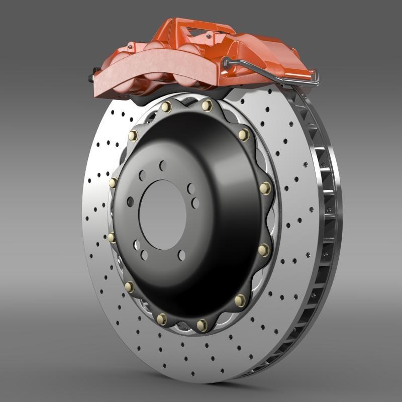 3d model brake brakedisc brembo
