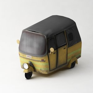 3d tuktuk model