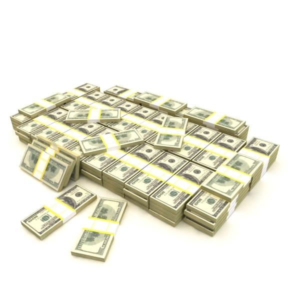3d pile banknotes