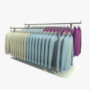 3d custom mens shirt rack model