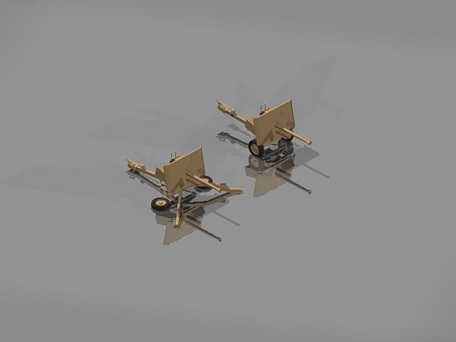 ww2 gun 3d model