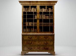 bookcase glass doors 3d model