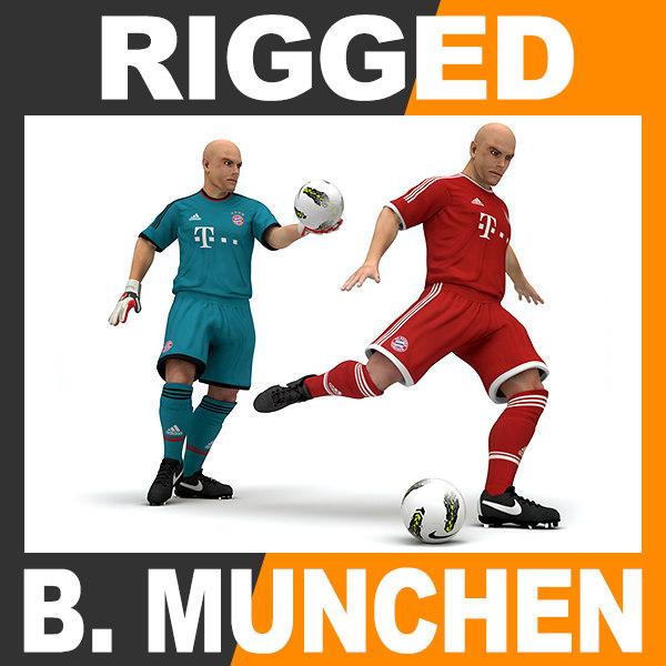 maya rigged football player -