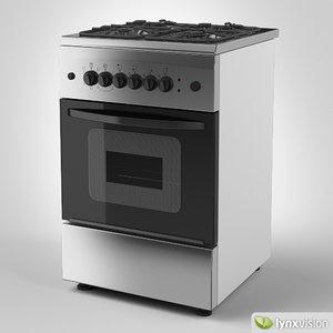 freestanding gas cooker 3d model