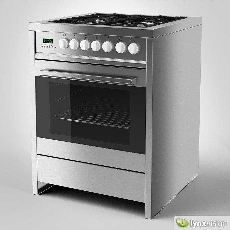 3d model parmco gas cooker
