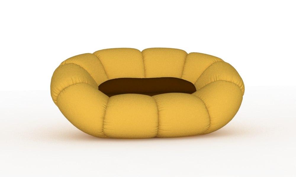 free sofa flora dizajno 3d model