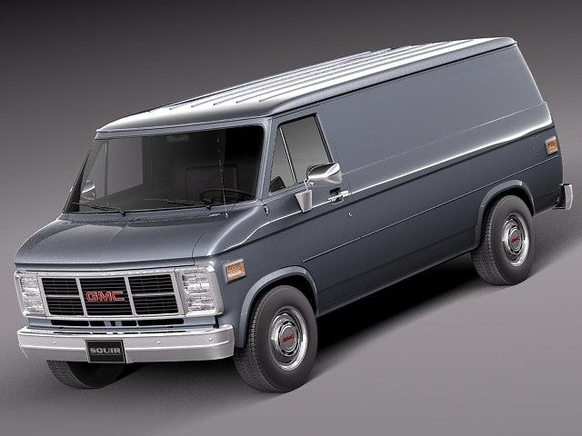 3d model v8 1983 van 1991
