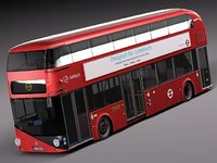2010 bus london lt2 3d model