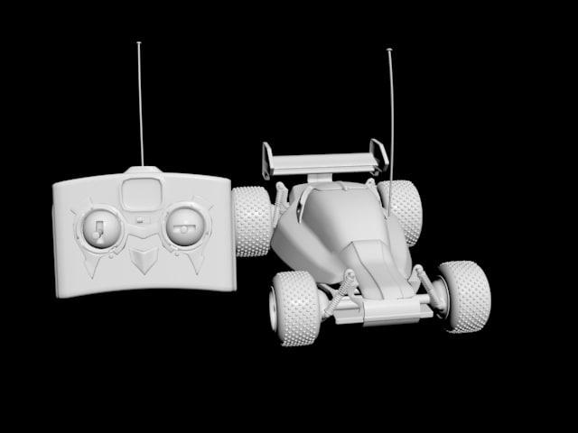 3d model of rc race car