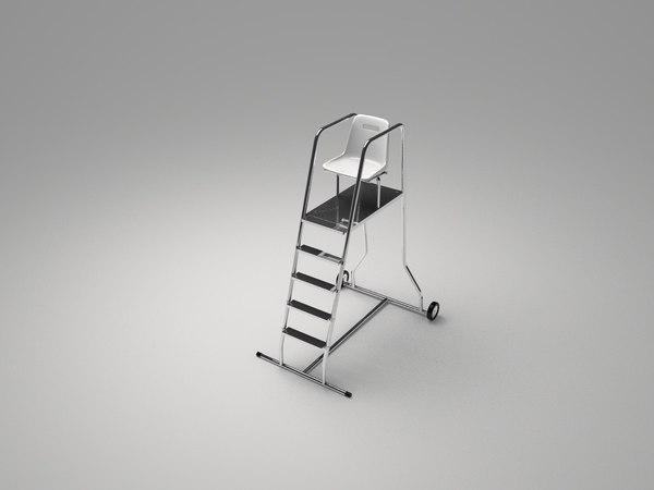 3d lifeguard chair