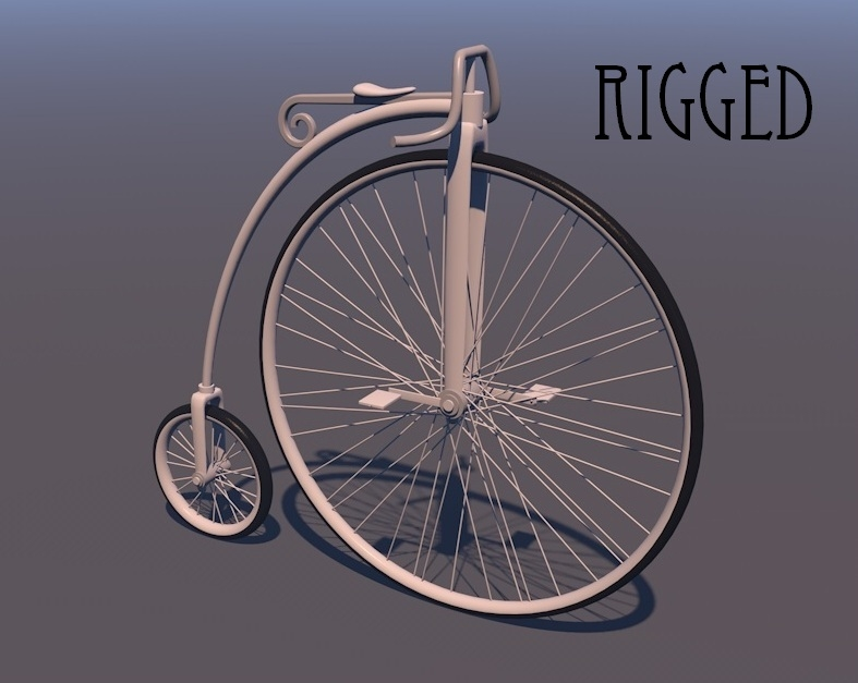 3d penny farthing