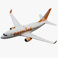 boeing 737 jet 3d model