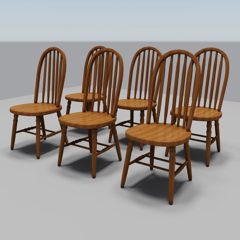 dining room chairs 3ds
