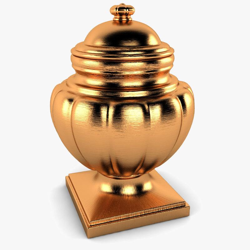 3d model cremation urn