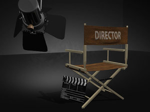 3d director s chair scene model