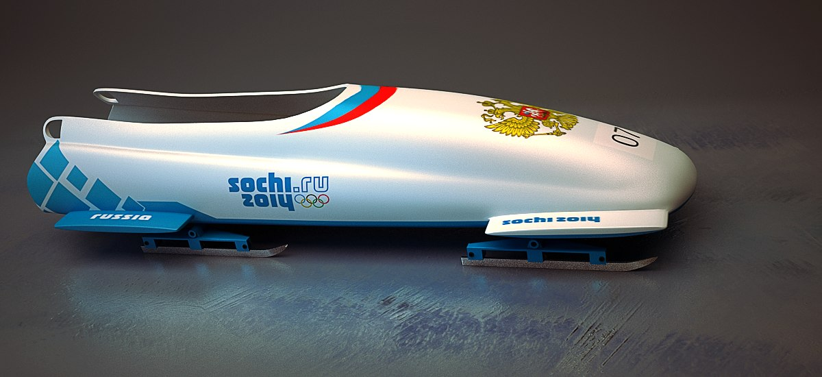 3d model bobsleigh sochi 2014