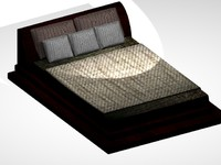 3d model simple bed