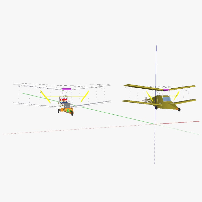3d model single person aircraft airplane