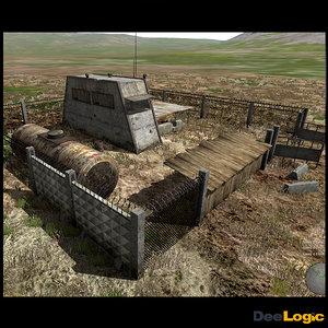 3dsmax scene post outpost
