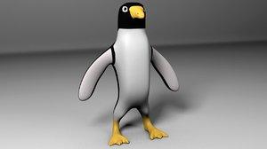 d cartoon penguin 3d model