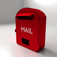3d mail box mailbox