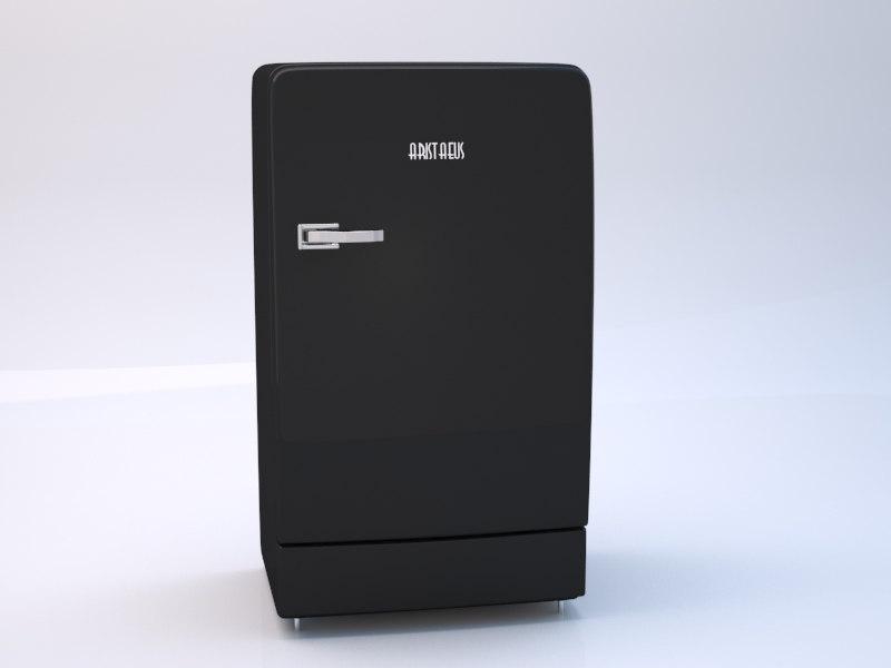 3d model classic refrigerator