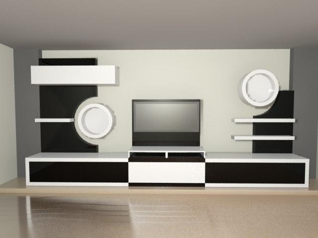 tv unite 3d model