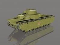3ds max t-35 heavy tank