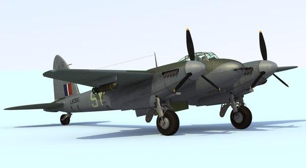 3d model mosquito fighter mkvi