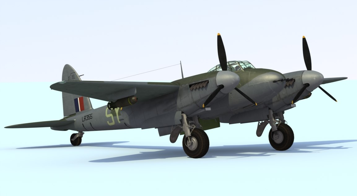 3d model mosquito fighter mkvi