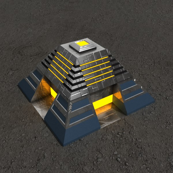 altar2 sci-fi building 3d model