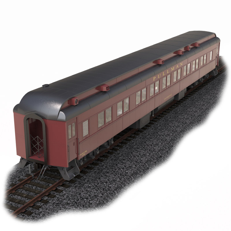 3d obj pullman heavyweight passenger car
