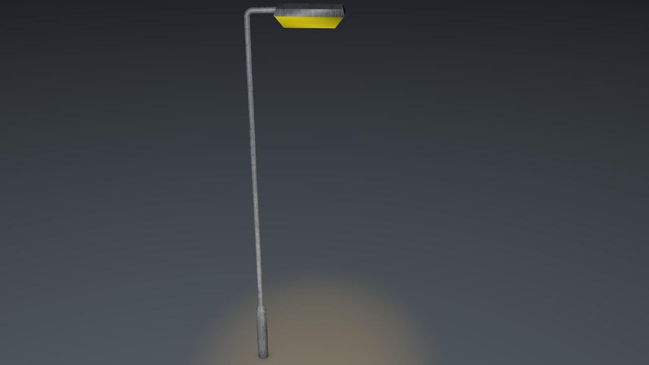free basic lamp post 3d model