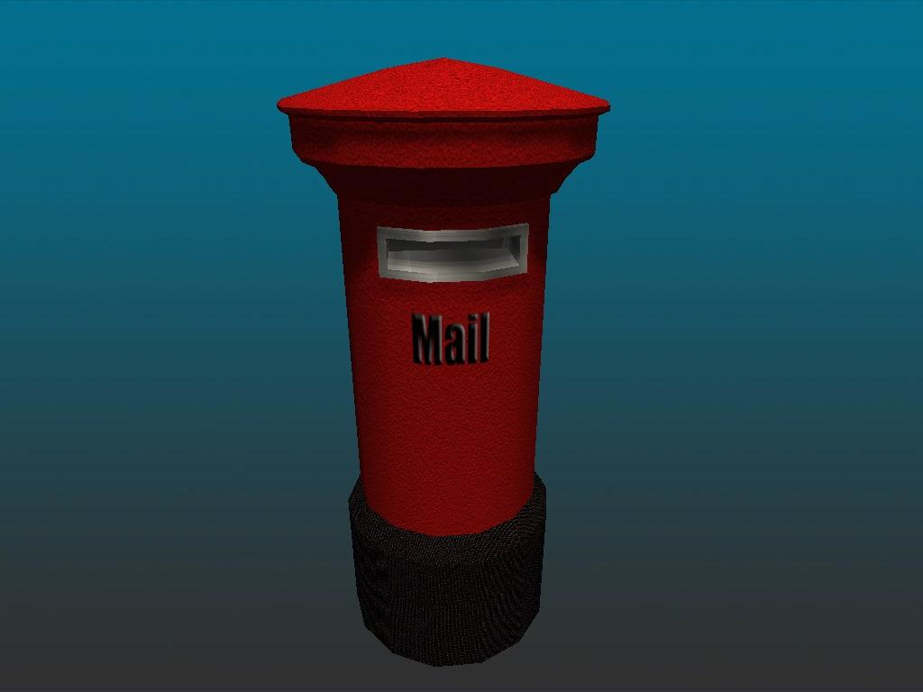 3ds max mailbox