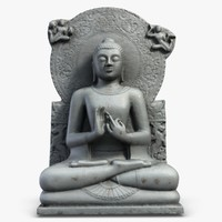 Seated Buddha Statuette