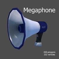 3d megaphone model